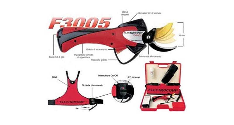 caracteristicas tijera de podar electrica electrocoup f3005